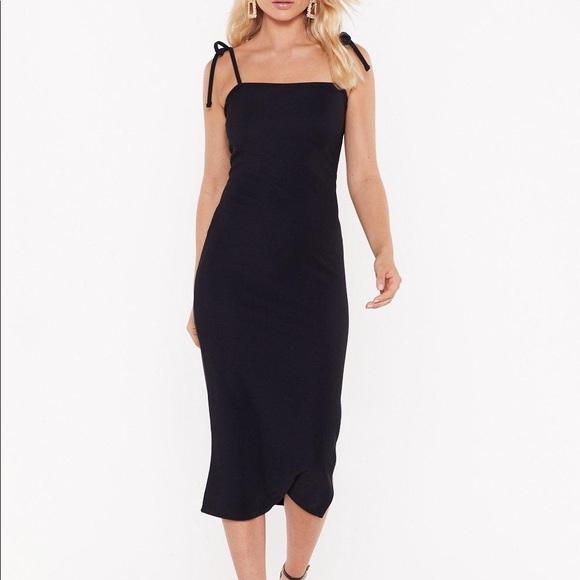 Nasty Gal Dresses & Skirts - Nasty Gal Black Midi Dress